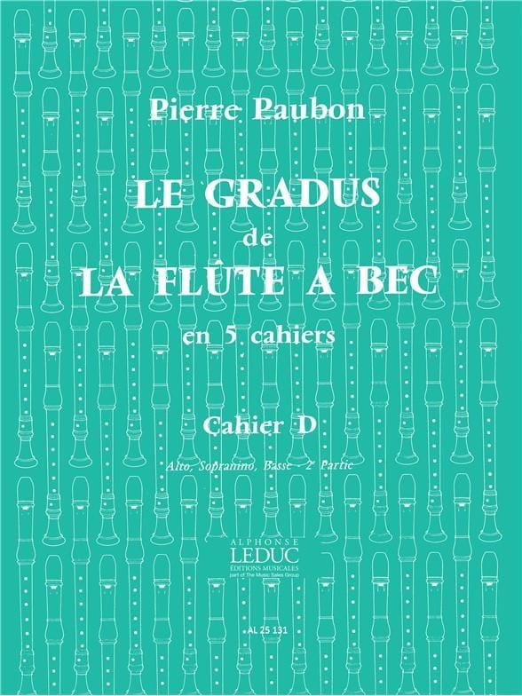 Le Gradus de la Flute à Bec - Cahier D - laflutedepan.com