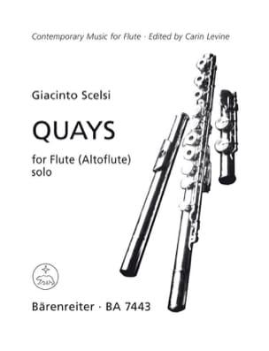 Quays Giacinto Scelsi Partition Flûte traversière - laflutedepan