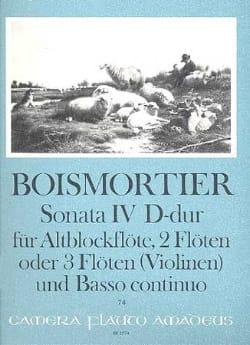 Sonata Nr. 4 D-Dur-Altblockflöte 2 Flöten u. BC laflutedepan