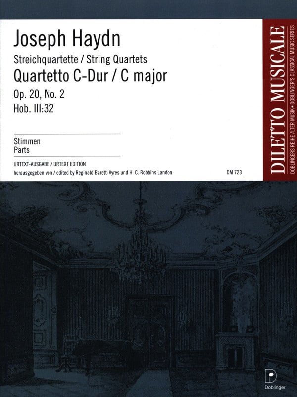Streichquartett C-Dur op. 20 n° 2 -Stimmen - HAYDN - laflutedepan.com