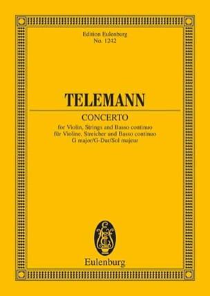 Violin-Konzert G-Dur G-Dur TELEMANN Partition laflutedepan