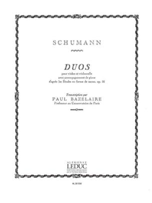 Duos -Violon violoncelle piano SCHUMANN Partition laflutedepan