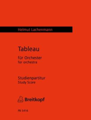 Tableau - Score Helmut Lachenmann Partition laflutedepan