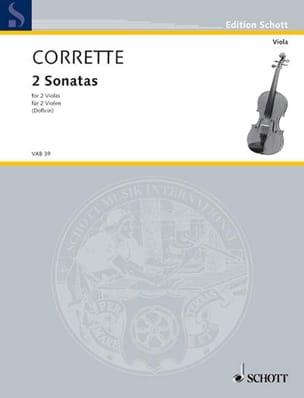 2 Sonaten und ein Menuett CORRETTE Partition Alto - laflutedepan