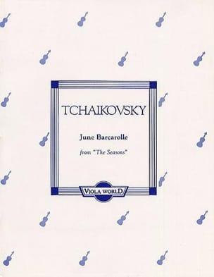 June Barcarolle op. 37 n° 6 - Viola TCHAIKOVSKY Partition laflutedepan
