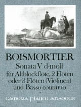 Sonata Nr. 5 d-moll -Altblockflöte 2 Flöten u. BC laflutedepan