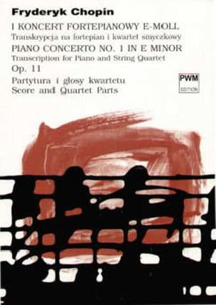 Concerto Piano n° 1 e minor op. 11 - String quartet piano - Score + Parts laflutedepan