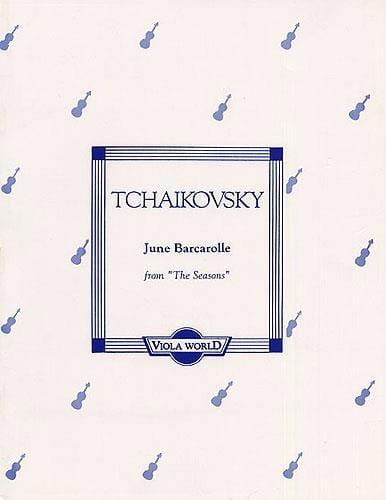 June Barcarolle op. 37 n° 6 - Viola - TCHAIKOVSKY - laflutedepan.com