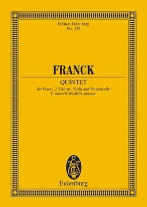 César Franck - Quintet in F minor - Partition - di-arezzo.co.uk