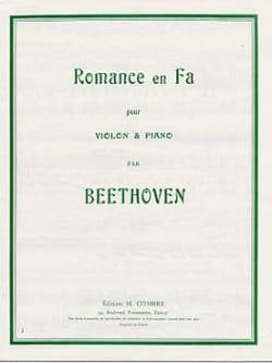 Romance en Fa BEETHOVEN Partition Violon - laflutedepan