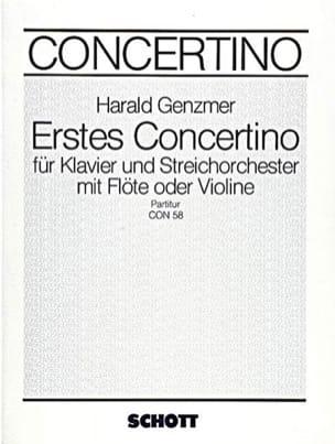 Concertino Nr. 1 - Partitur Harald Genzmer Partition laflutedepan