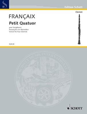 Petit quatuor - Clarinettes - Score + Parts FRANÇAIX laflutedepan