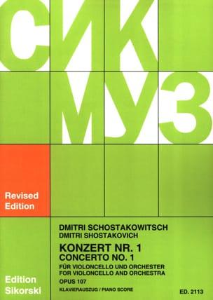 Concerto Violoncelle n° 1 op. 107 CHOSTAKOVITCH Partition laflutedepan