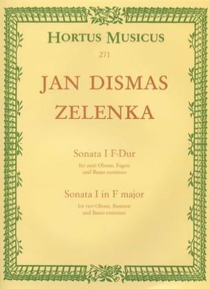 Sonate Nr. 1 F-Dur - 2 Oboen Fagott BC ZELENKA Partition laflutedepan