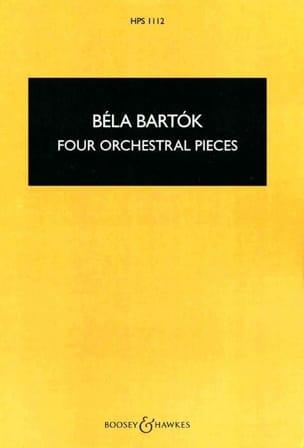 Four orchestral pieces, op. 12 BARTOK Partition laflutedepan