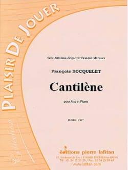 Cantilène François Bocquelet Partition Alto - laflutedepan