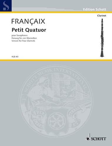 Petit quatuor - Clarinettes - Score + Parts - laflutedepan.com