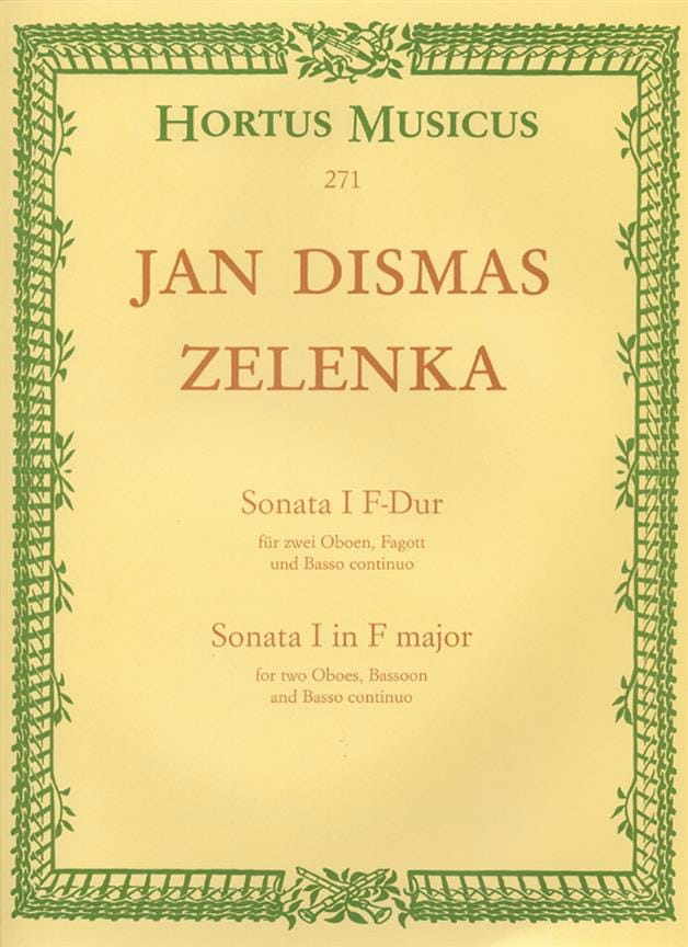 Sonate Nr. 1 F-Dur - 2 Oboen Fagott BC - ZELENKA - laflutedepan.com