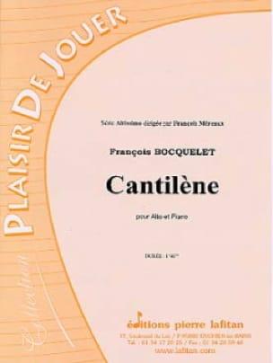Cantilène - François Bocquelet - Partition - Alto - laflutedepan.com
