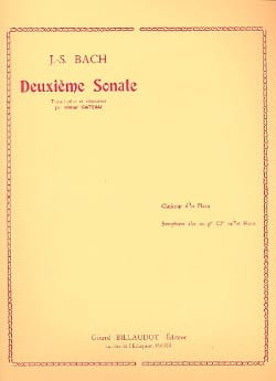 2e Sonate - Clarinette et piano BACH Partition laflutedepan