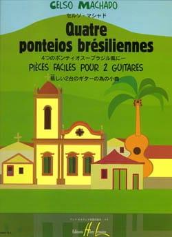 4 Ponteios brésiliennes Celso Machado Partition Guitare - laflutedepan