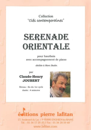 Sérénade Orientale Claude-Henry Joubert Partition laflutedepan