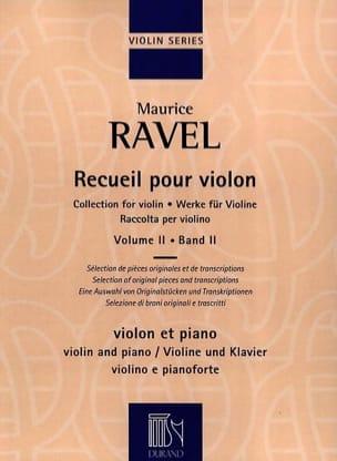 Recueil pour Violon - Volume 2 RAVEL Partition Violon - laflutedepan