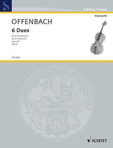 6 Duos, op. 49 - OFFENBACH - Partition - laflutedepan.com