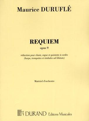 Requiem Parties Orchestre Reduit DURUFLÉ Partition laflutedepan