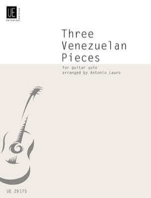 3 Venezuelan Pieces Antonio Lauro Partition Guitare - laflutedepan