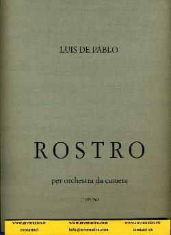 Rostro -Partitura Luis de Pablo Partition Grand format - laflutedepan