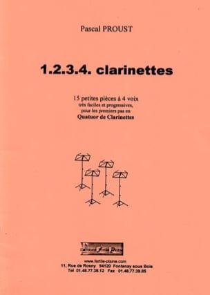 1, 2, 3, 4 clarinettes Pascal Proust Partition laflutedepan