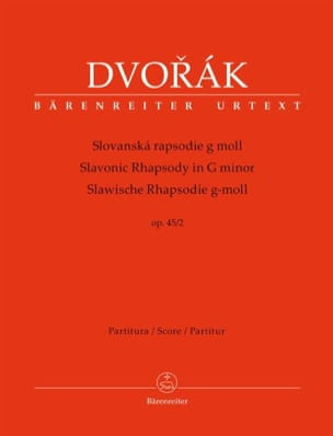 Rhapsodie Slave, opus 45 n° 2 - Conducteur - DVORAK - laflutedepan.com