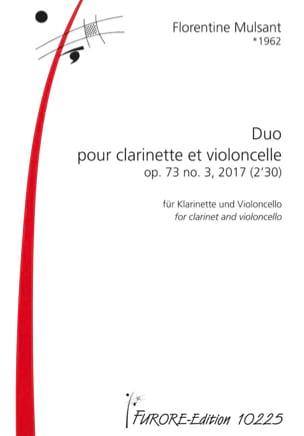 Duo - Clarinette et Violoncelle Florentine Mulsant laflutedepan