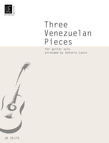 3 Venezuelan Pieces - Antonio Lauro - Partition - laflutedepan.com