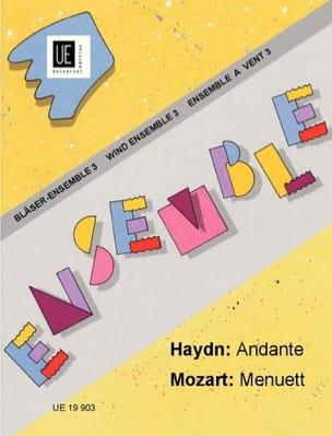 Andante / Menuett -Bläser-Ensemble HAYDN Partition laflutedepan