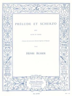 Prélude et Scherzo op. 35 Henri Busser Partition laflutedepan