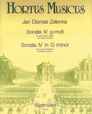 Sonate Nr. 4 g-moll - 2 Oboen Fagott BC ZELENKA Partition laflutedepan