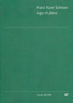 Juga et Plana - Partitur Franz Xaver Schnizer Partition laflutedepan