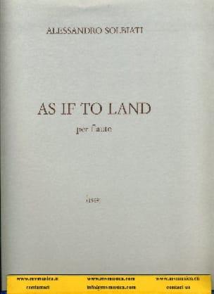 As if to land - Flauto solo - Alessandro Solbiati - laflutedepan.com