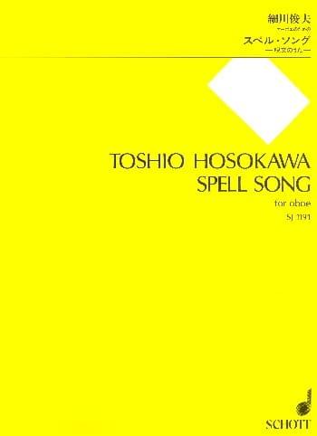 Spell Song - Toshio Hosokawa - Partition - Hautbois - laflutedepan.com