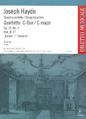 Streichquartett C-Dur op. 76 n° 3 -Stimmen HAYDN laflutedepan