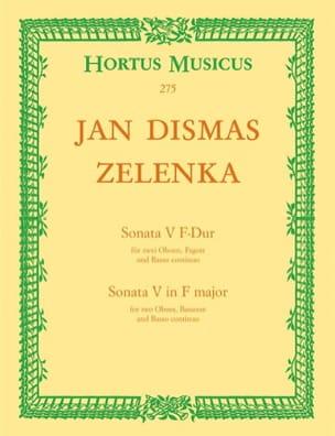 Sonate Nr. 5 F-Dur - 2 Oboen Fagott BC ZELENKA Partition laflutedepan
