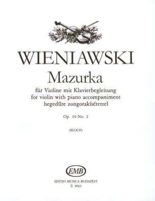 Mazurka op. 19 n° 2 WIENAWSKI Partition Violon - laflutedepan