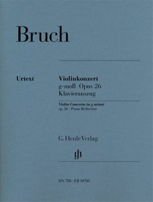Max Bruch - Minor Violin Concerto No. 1 Op. 26 - Partition - di-arezzo.co.uk