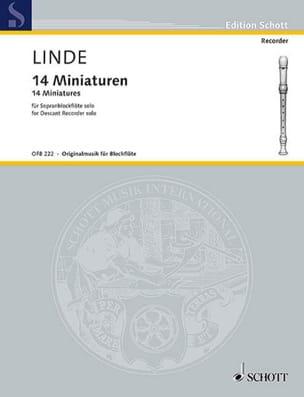14 Miniatures Hans Martin Linde Partition Flûte à bec - laflutedepan