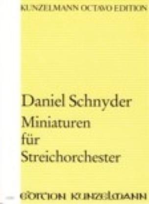 Miniaturen Für Streichorchester - Partitur - laflutedepan.com