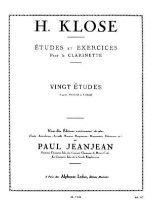 20 Etudes d'après Kreutzer et Fiorillo Hyacinthe Klosé laflutedepan