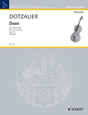 Duos op. 15 Friedrich Dotzauer Partition Violoncelle - laflutedepan