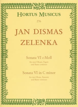 Sonate Nr. 6 c-moll - 2 Oboen Fagott BC ZELENKA Partition laflutedepan